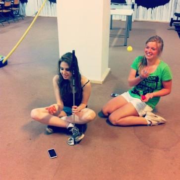 Charlotte y yo en plena sesión de Mongosport